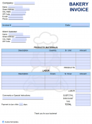 Free Bakery Invoice Template Pdf Word Excel