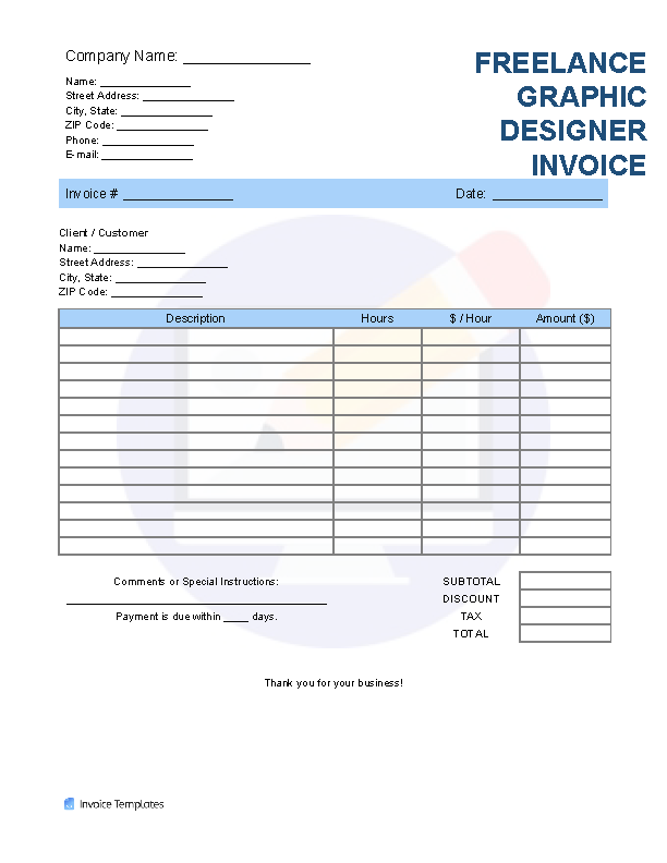 Graphic Design Invoice Template from invoicetemplates.com