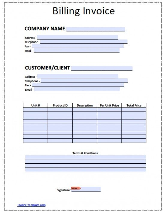 Free Billing Invoice Template Excel PDF Word Doc - Free invoice template for word 2010 dress stores online