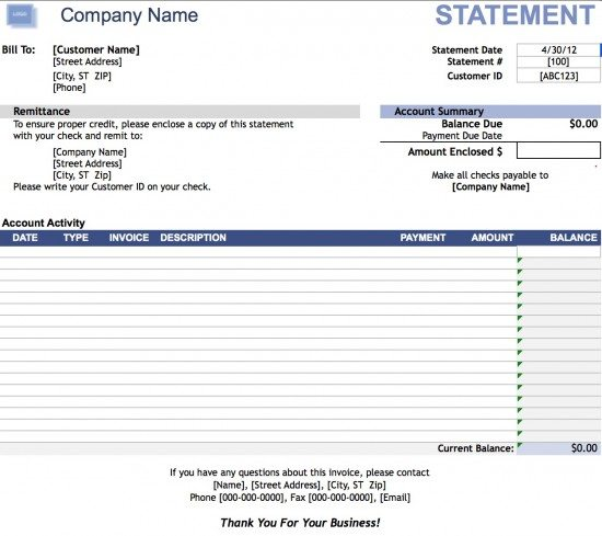 Free Business Invoice Template Excel PDF Word Doc - Business invoice template