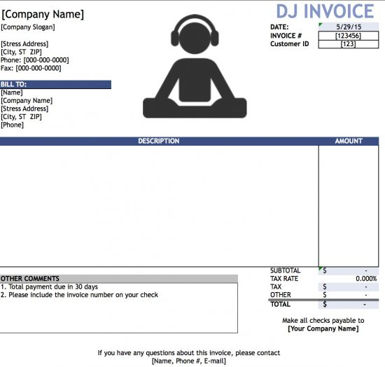 microsoft excel xls - How To Make An Invoice