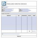 Free Freelance Writer Invoice Template Excel PDF Word Doc - Freelance writer invoice