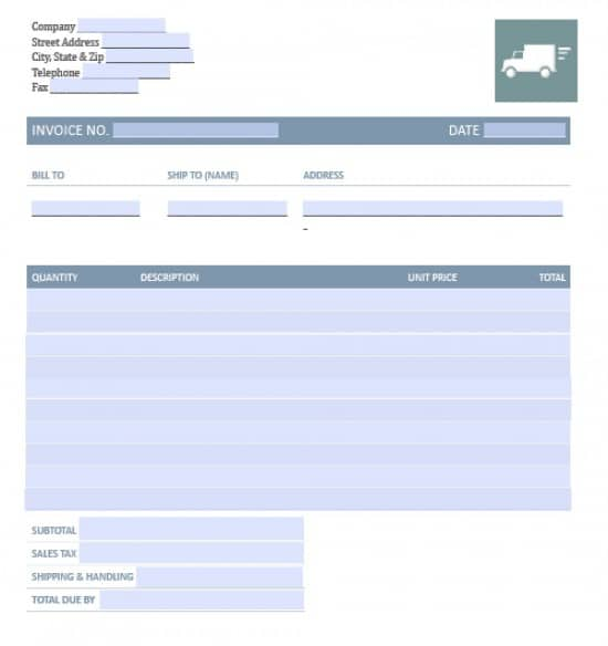freight invoice template free  Free Freight/Trucking Invoice Template | Excel | PDF | Word (.doc)
