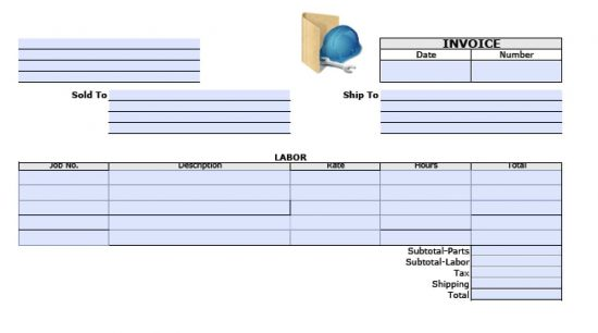 Adobe PDF (.pdf) And Microsoft Word (.doc)  How To Make A Invoice Template In Word