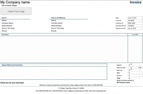 Free Internet Hosting Invoice Template Excel PDF Word Doc - Internet invoice template