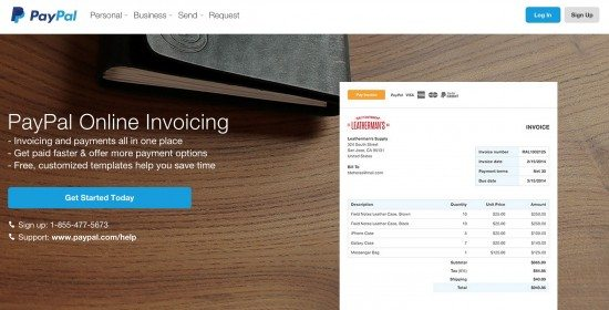 paypal-online-invoicing-webpage